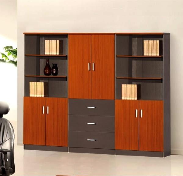 Librero de piso combinado for Libreros minimalistas para oficina