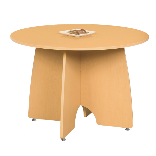 Mesa de centro redonda for Mesa redonda esquinera