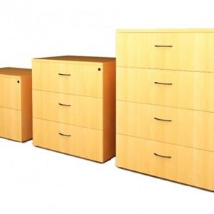 archiveros horizontales de 2,3 y 4 gavetas